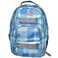 Rucsac ergonomic Herlitz Blue Checkers