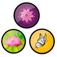 Set 3 insigne pentru troller Nikidom - Bloom