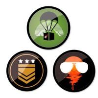 Set 3 insigne pentru troller Nikidom - Camo
