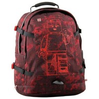 Rucsac Lego Core Line Tech Teen Minifigures Burgundy Camo