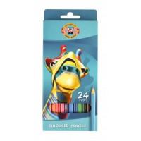 Creioane color Koh-I-Noor set 24 culori