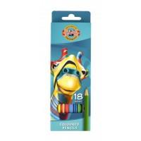 Creioane color Koh-I-Noor set 18 culori