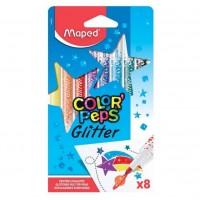 Carioca set 8 culori cu sclipici Maped