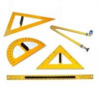 Set de instrumente geometrie pentru tabla, Colorarte