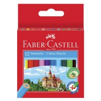 Creioane color Faber-Castell 12 culori scurte (lungime 1/2)