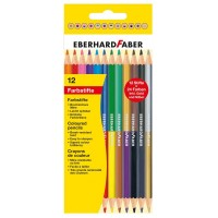 Creioane color Eberhard Faber bicolore 2x12 culori