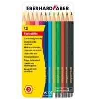 Creioane color Eberhard Faber set 12 culori in cutie metal