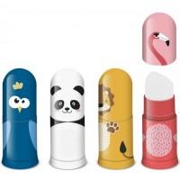 Ascutitoare Faber-Castell cu container si radiera, animale