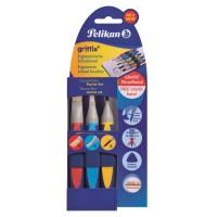 Set 3 pensule Pelikan Griffix, varf lat 6 si 12, varf rotund 6
