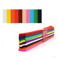 Hartie creponata 0,5x2m, set 10 culori, Nova Color