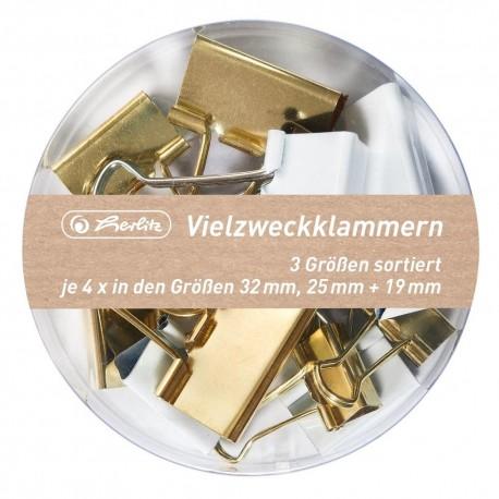 Set 12 clipsuri metalice Herlitz Pure Glam