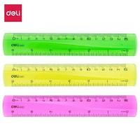 Rigla plastic color 15cm Deli