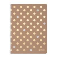Caiet A4 80 file cu spirala, matematica, Pure Glam, Herlitz