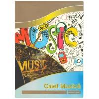 Caiet muzica A4 24 file, hartie 80g/mp, Silence Gold