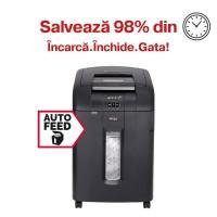Distrugator automat de documente Rexel Auto+ 600X, 600 coli, particule