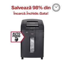 Distrugator automat de documente Rexel Auto+ 600M, 600 coli, microparticule