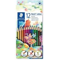 Creioane color Staedtler 12 culori Noris triunghiulare