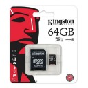 Card Micro SDHC 64 GB, clasa 10 UHS-I, Kingston
