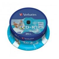 CD-R Verbatim 700MB/52x, 25 buc./cutie, printabil