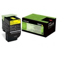 Cartus toner Lexmark 702Y (70C20Y0) Yellow