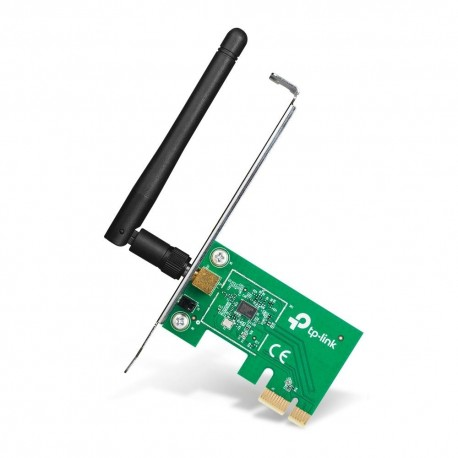 Placa de retea 802.11n wireless, 150Mbps, PCI Express, antena detasabila, TP Link