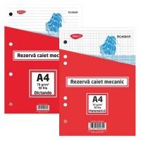 Rezerva caiet mecanic A4 50 file Daco