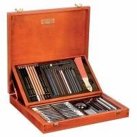 Set arta Gioconda 54 piese cutie lemn Koh-I-Noor