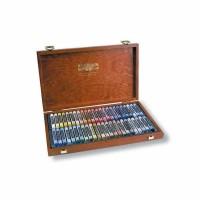 Set 48 culori creta uscata in cutie lemn Koh-I-Noor