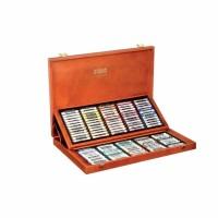 Set 120 culori creta uscata in cutie lemn Koh-I-Noor