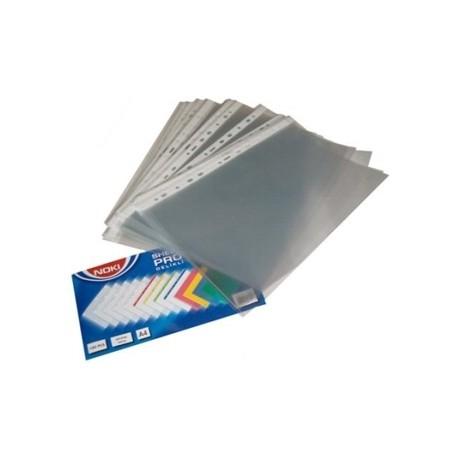 File plastic Cristal A4, 45 microni, 100 buc./set, Noki