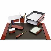 Set de birou lux din lemn mahon, 8 piese, FORPUS