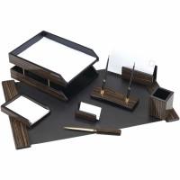 Set de birou lux din lemn wenge,8 piese, FORPUS