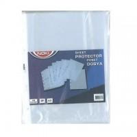 File plastic A5, deschidere sus, 100 buc./set, 40 microni, Noki
