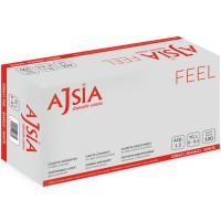 Manusi din latex Ajsia Feel, 100 buc./cutie, albe