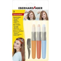 Set 3 culori pentru par + pieptene, Eberhard Faber