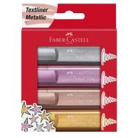 Textmarker Faber-Castell Metalizat set 4 culori