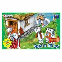Puzzle 24 piese maxi Capra cu trei iezi, Unicart