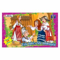 Puzzle 24 piese maxi Fata babei si fata mosului, Unicart