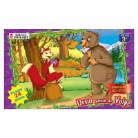 Puzzle 24 piese maxi Ursul pacalit, Unicart
