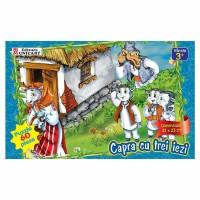Puzzle 60 piese maxi Capra cu trei iezi, Unicart