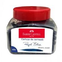 Set 100 rezerve cerneala albastra Faber-Castell