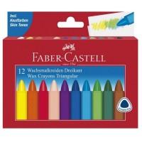 Creioane colorate cerate Faber-Castell 12 culori triunghiulare