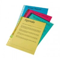 File plastic cristal color A4, 55 microni, 10 buc./set, Esselte