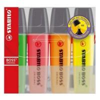 Textmarker Stabilo Boss Original set 4 culori