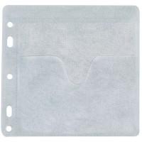 Plic plastic pentru CD/DVD cu perforatii, 40 buc./set, Q-Connect
