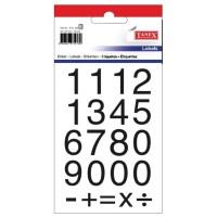 Etichete cu cifre 0-9, 20x20mm, 42 buc./set, Tanex