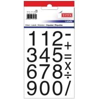 Etichete cu cifre 0-9, 25x25mm, 36 buc./set, Tanex