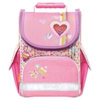 Ghiozdan Tiger Mini Pink Amour + acuarele Herlitz cadou