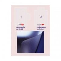 Covoras PVC transparent pentru protectie parchet/gresie, 121x92cm, cu limba, Floortex