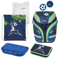 Ghiozdan echipat Herlitz SoftFlex Plus Kick It + cadou stilou Pelikano Junior